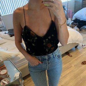 Zara Printed Velvet Top